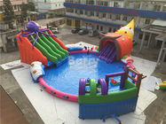 China Giant Outdoor Inflatable Water Park , Custom Children Octopus Water Slide factory