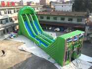 China Commercial Giant Inflatable Zip Line Slide For Adults Green Color company