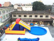 China Amusement Inflatable Backyard Water Park , Inflatable Slide With Pool factory