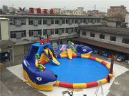 China Summer Sharp Inflatable Water Park , Crocodile Island Inflatable Water Slide factory