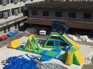 China Inflatable Floating Water Park , Water Obsatce Course For Kids And Adult factory