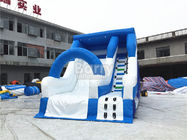 China Blue Small Commercial Inflatable Slide For Children / Backyard Water Slide factory
