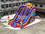 China Professional Double Lanes Bear Kid Inflatable Slide 12*8*8m Or Customized factory