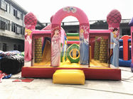 Big Pink Princess Inflatable Bouncer , Professional Commercial Bounce House