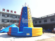 Outdoor Blue Giant Rocket Inflatable Climbing Wall / Obstacle Course Wall For Children And Adult