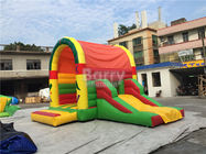 China Clearance Inflatable Bouncer , Beautiful Jump House With Small Slide factory