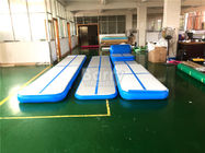 China Customized Blue Inflatable Air Track Gymnastics Mat 3M 5M 6M 8M 10M 12M factory