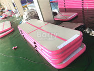 China OEM & ODM 3m or 6m Long Pink Inflatable Tumble Track Air Floor Pro For Gym factory