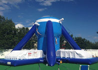 China Free Klimb Inflatable Interactive Games , Large Blue 28ft Inflatable Climbing Wall factory