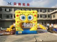 China Removable Theme Kids Jumper Playground Inflatable Spongebob Jumping Bouncer For Party Rental company