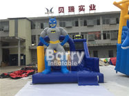 China Custom Made Inflatable Obstacle Course With Batman Slide With PVC Tarp Materials factory