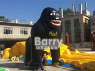 China Advertising Giant Inflatable Gorilla Cartoon Model With Custom Words Printing factory