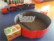 China Red PVC Foldable Dog Pet Inflatable Swimming Pool Customized Size factory