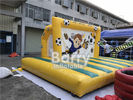 China Outdoor Inflatable Sports Games , Backyard Inflatable Soccer Goal Game factory