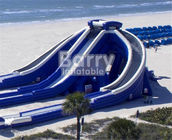 Funny High Altitude Games Giant Inflatable Slide / PVC Dry Water Slide For Children