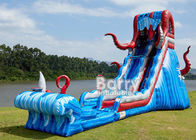 0.55mm PVC Tarpaulin 25 FT Ocean Battle Slide , Inflatable Adults Water Slide For Backyard