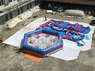 China Man Standing Meltdown Rotating Inflatable Sports Games with Controller , Kids Sweeper Arm Game factory
