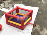 Ultimate Red And Yellow Kids / Adults Inflatable Sports Games Giant Bouncy Boxing With Gloves