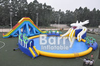 Customized Commercial Grade Inflatable Water Slide With Water Park