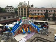 PVC Tarpaulin Giant Outdoor Inflatable Water Park With 3 Slide / Inflatable Playground Water Park