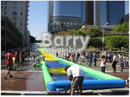 China PVC Tarpaulin Inflatable Water Slide , Custom Inflatable Slide The City factory