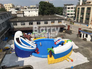 Custom PVC Aquapark Inflatable Water Park With Pool And Slide For Children