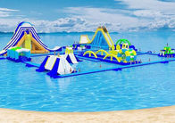 Commercial Floating Toys Inflatable Water Park , Giant Beach Waterpark For Adult