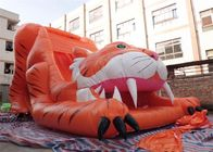 China Big Commercial Tiger Inflatable Slide / Inflatable Dry Slide For Kids company