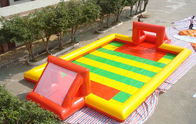 China Amazing Sport Game Inflatable Football Field , Colorful PVC Inflatable Football Game Field factory