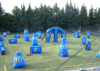China Funny Inflatable Sports Games Blow Up Paintball Bunkers Rental EN14960 factory