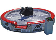 China Deluxe Inflatable Mechanical Bull , Round PVC Inflatable Mat Mechanical Rodeo Bull factory