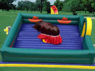 China Square Inflatable Mat Mechanical Bull ,  PVC Tarpaulin Inflatable Mat with Mechanical Rodeo Bull factory