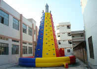 China Colourful  Inflatable Interactive Indoor Inflatable Climbing Wall Hire factory