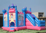 China Outdoor Large Inflatable Combo Princess Jumping Castle With Slide Rental company