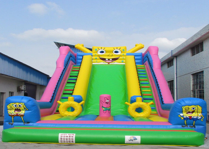 China Spongebob Squarepants Lovely Huge Inflatable Slide Convenient Use factory