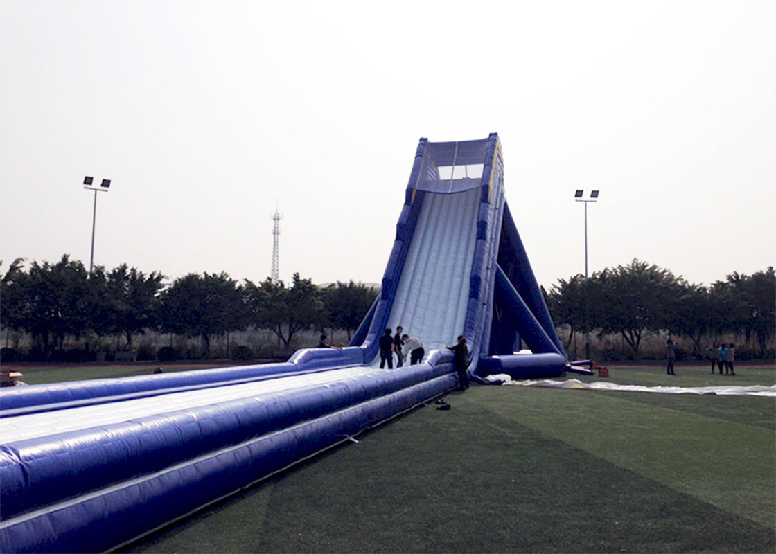 Blue Durable Adult Giant Inflatable Slide Satety Large Blow Up Water Slides