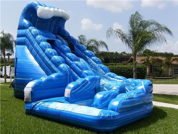 Blue Huge Inflatable Whale Water Slide Comercial Dual Lane For Kids