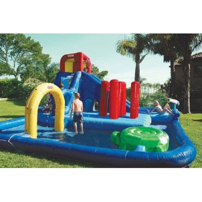 Double Lane Inflatable Water Park , Kids Inflatable Wate Slide supplier