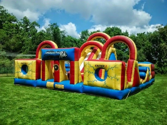 Adventure Backyard Obstacle Course Bounce House Kids Fun Obstacle Course  Jumpers