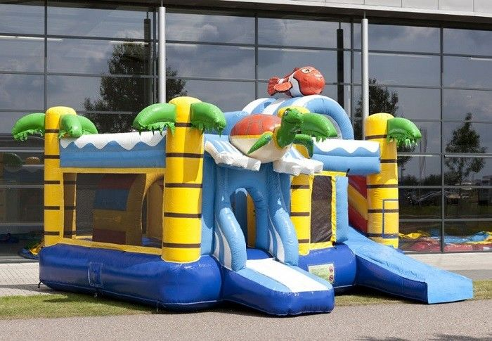 Schildpad Air Inflatable Combo Bouncers / PVC Tarpaulin Bounce House Combo supplier