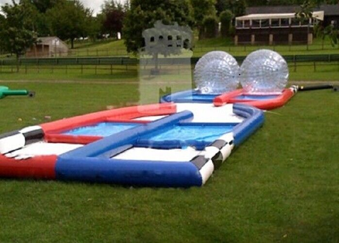 Welded Funny Outdoor Inflatable Toys Inflatable Zorb Ball Race Ramp