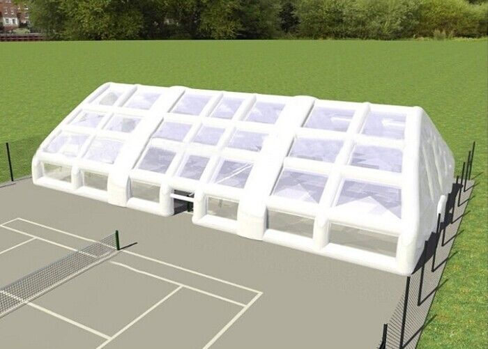 China Double Layer Strong Inflatable Lawn Tent Inflatable Camping Tent For Tennis Football Game factory