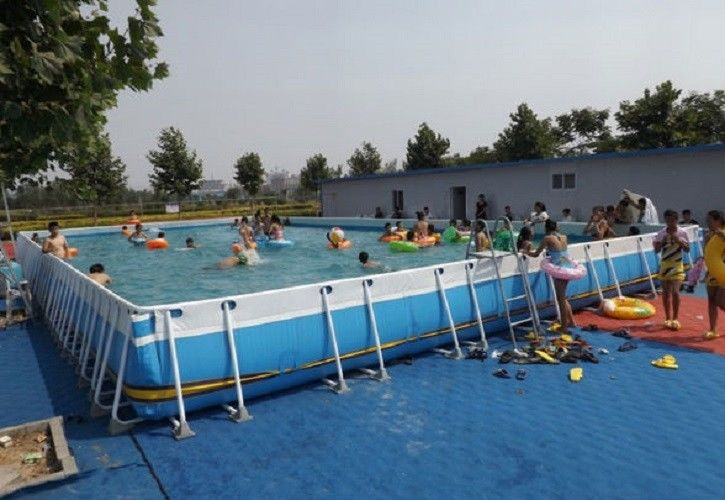 Summer metal frame swimming pool large set custom steel - Pool mit stahlrahmen ...