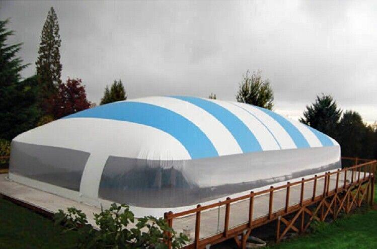 Swimming pool waterproof inflatable air tent pvc tarpaulin material for China fleet club swimming pool prices
