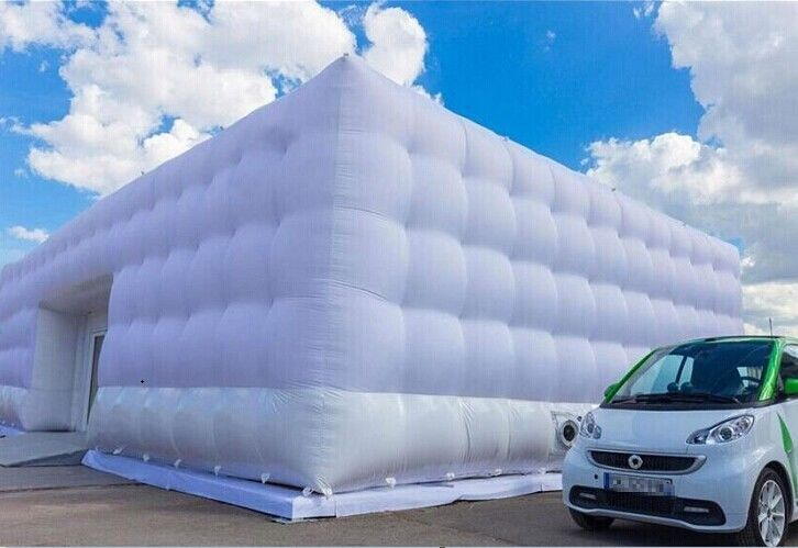 Portable Marquee Inflatable Tent For Car Garage / White Inflatable Cube Tent & Portable Marquee Inflatable Tent For Car Garage / White Inflatable ...