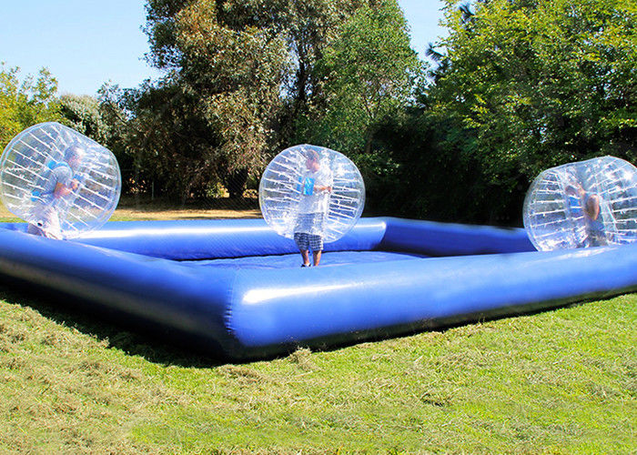 Custom Outdoor Inflatable Toys Funny Blow Up Body Bumper Balls Arena With Pool For Family