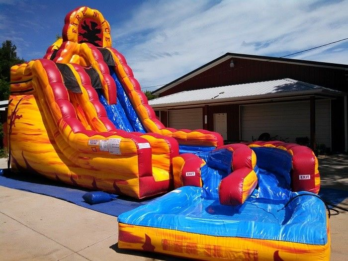 cool largest blow up water slides dash n splash fire inflatable