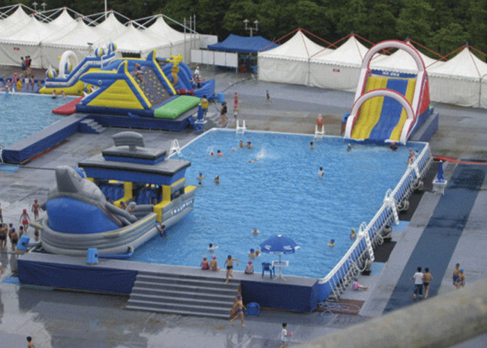 Summer Water Slide Amusement Park Above Ground Metal Pool