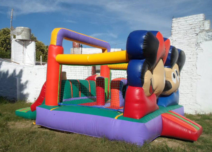 Customized Mickey Mouse Inflatable Bounce House Moonwalk Bouncers With Logo Printing supplier