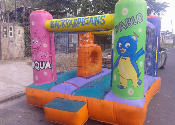 China Mini Safety Commercial Jumping Castles With Net / Kids Bounce House Games factory